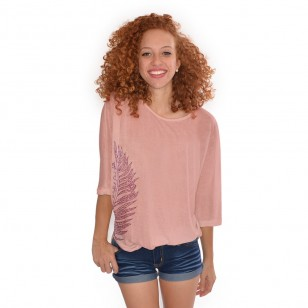 T-shirt Long Tia Feuille