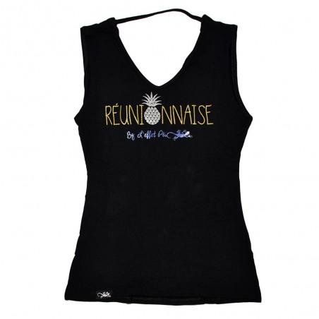 T-shirt Réunionnaise Farouche (dos nu)