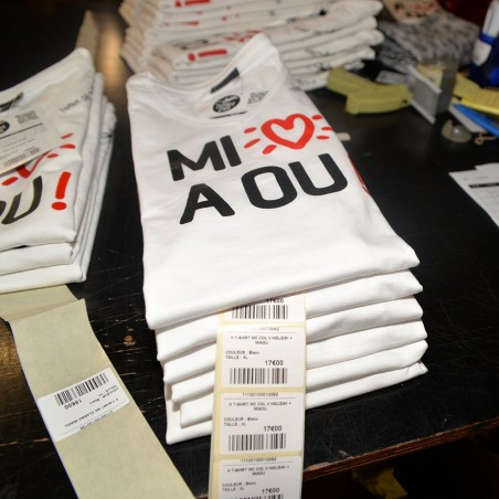 T-shirt Miaou (Col V Holiday)