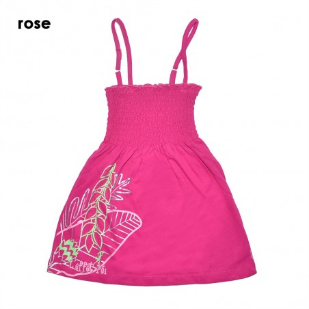 Robe Louane Feuille Tropicale