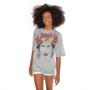 T-shirt long Tia Poche