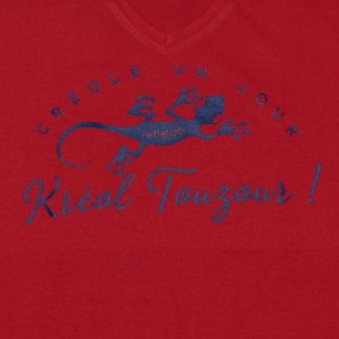 T-shirt Kréol Touzour (Col v Holiday)