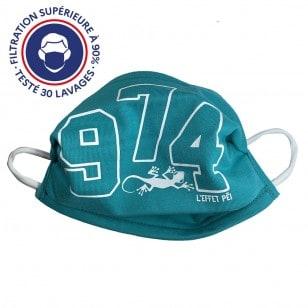 Masque Péi 974 bleu