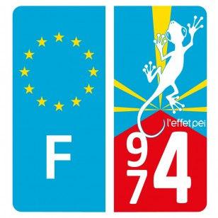 Autocollant immatriculation FLAG