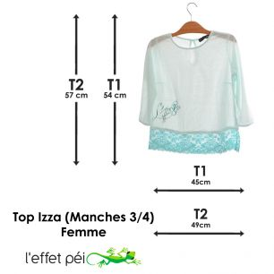 Top Izza (manches 3/4)