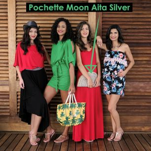 Pochette Moon Aita Silver