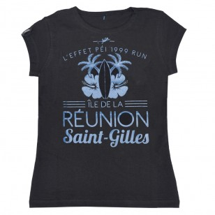 T-shirt Ville RUN ST GILLES (Classic Femme)