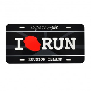 Acc. City Plak I LOVE RUN