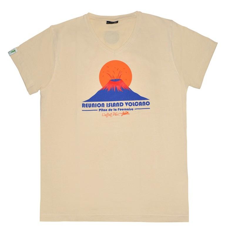 T-shirt Volcan  Lé Cho (Col V Holiday)