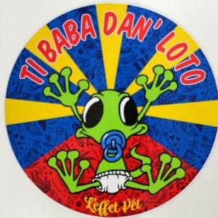 Autocollant Ti Baba Flag