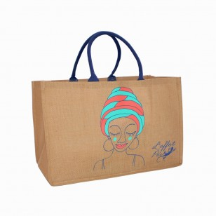Sac Jute Black Woman