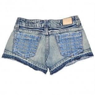 Short Jean Pocket Brodé